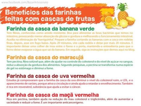 Benefícios das farinhas de cascas de frutas