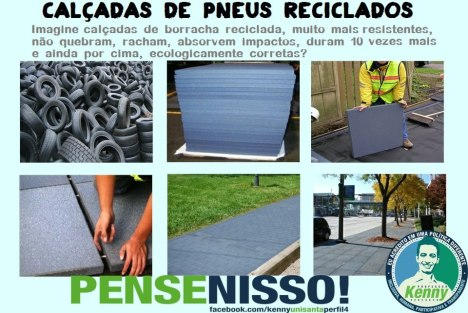 Calçadas de pneus reciblados