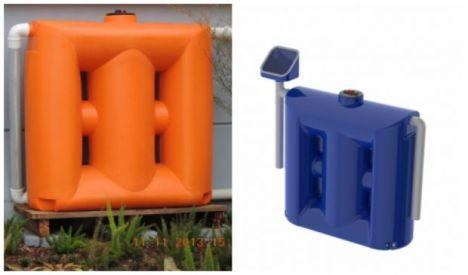 Cisterna vertical cabe em uma sacada e armazena atá mil litros de água
