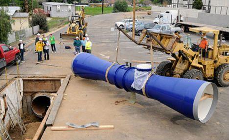 Geração de energia por meio de turbinas instaladas em encanamentos já funciona em cidade dos EUA 1