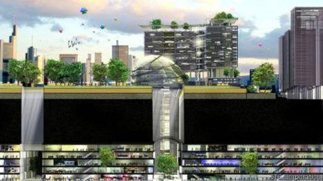 Para driblar falta de espaço, arquitetos de Cingapura planejam instituto subterrâneo.