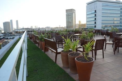 Terraço do Prédio Softex de uma empresa de tecnologia-Recife