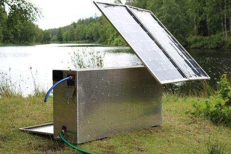 Suecos criam máquina solar capaz de purificar 600 litros de água-hora 1
